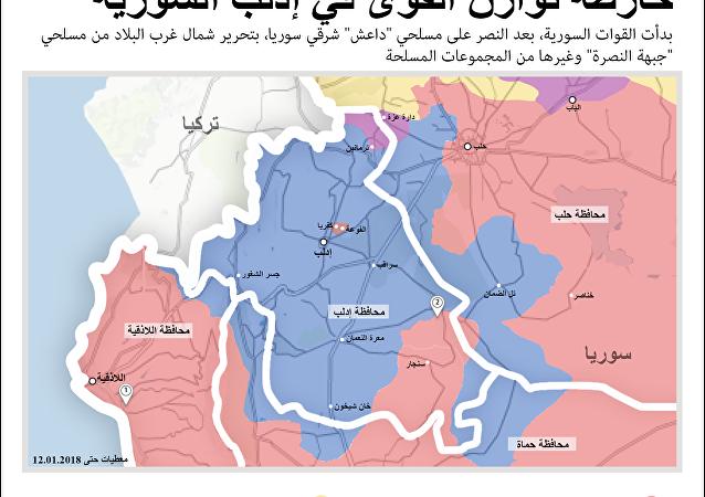 خارطة توازن القوى في إدلب السورية