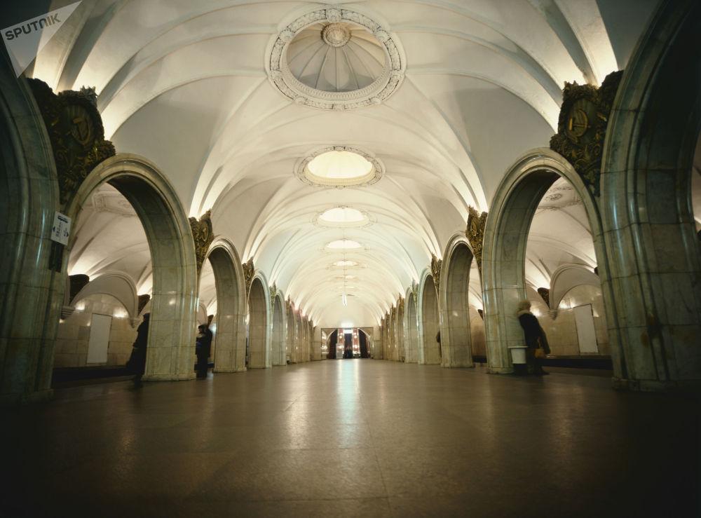 محطة مترو بافيليتسكايا في موسكو