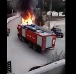 شاحنة دفاع المدني للاطفاء