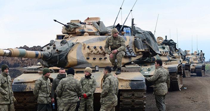 قوات تركية في عفرين السورية