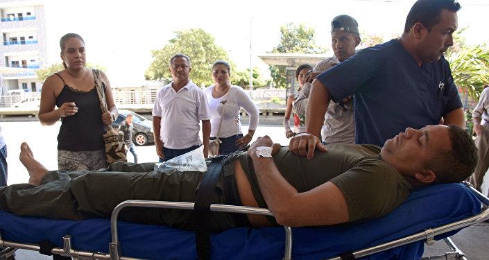 رجل شرطة كولومبي مصاب في الهجوم