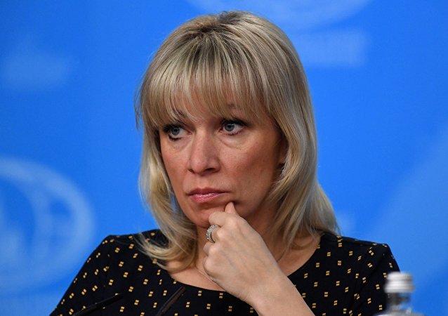 الممثلة الرسمية لوزارة الخارجية الروسية ماريا زاخاروفا