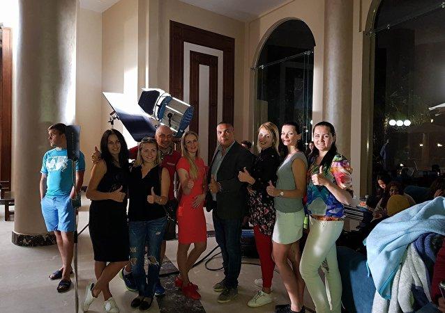 فريق عمل الفيلم المصري الروسي ابتسم أنت في مصر