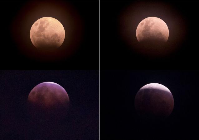 ثلاث ظواهر فريدة من نوعها في وقت واحد: خسوف القمر والقمر الكامل والقمر العملاق - إندونيسيا 31 يناير/ كانون الثاني 2018