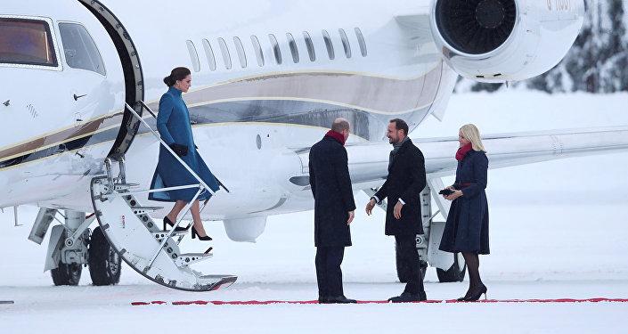 الأمير وليام وزوجته في النرويج