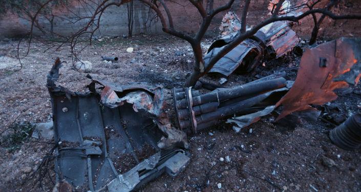 طائرة حربية سو-25 مسقطة في سوريا