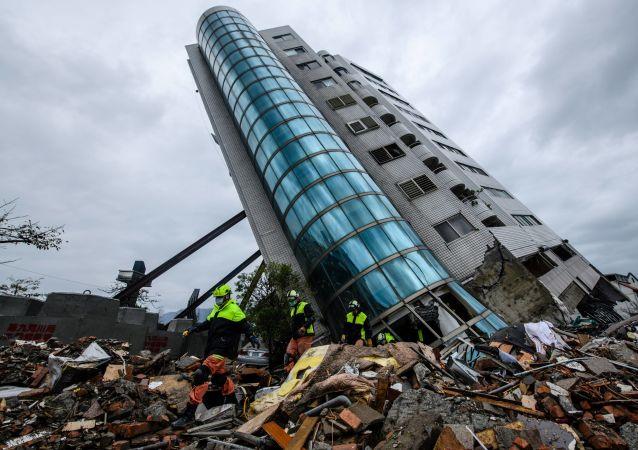 تداعيات زلزال قوي (6.4 درجة بمقياس ريختر) في هوالين، تايوان 6 فبراير/ شباط 2018
