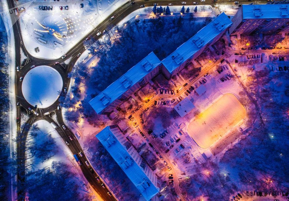 شارع سولنيتشنايا في مقاطعة ترويتسك، نوفايا موسكفا (موسكو الجديدة)