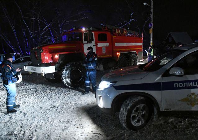 رجال إطفاء في روسيا