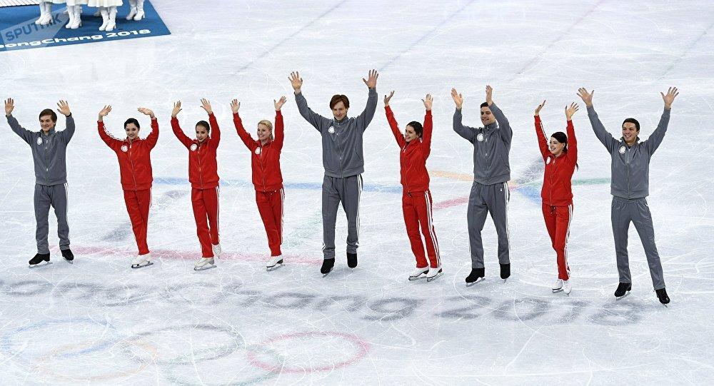 المتزلجون الروس على الجليد في دورة الألعاب الأولمبية 2018