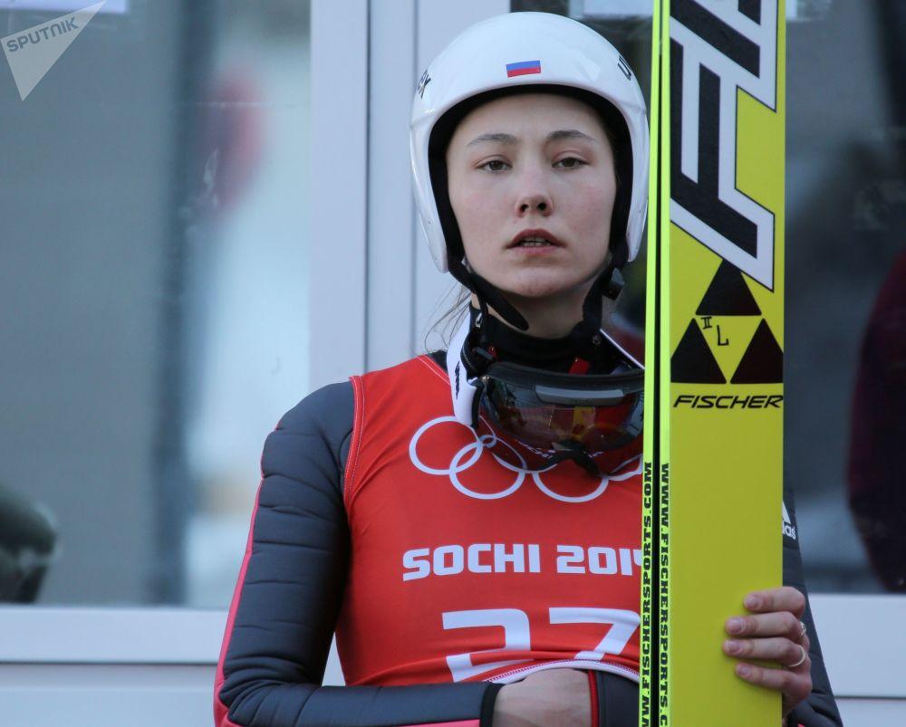 الروسية إرينا أفاكوموفا(متزلجة الفقز)