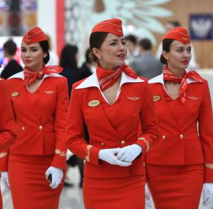 مضيفات الطيران - الخطوط الجوية آيروفلوت الروسية في سوتشي