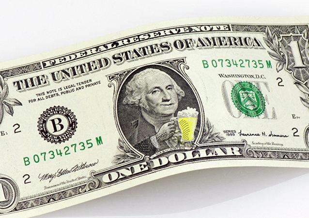 صورة الرئيس الأمريكي جورج واشنطن على الدولار الأمريكي
