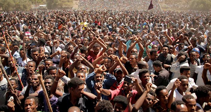 محتجون من الأورومو بإثيوبيا