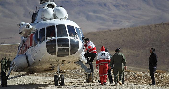 عمليات البحث على الطائرة الإيرانية المنكوبة