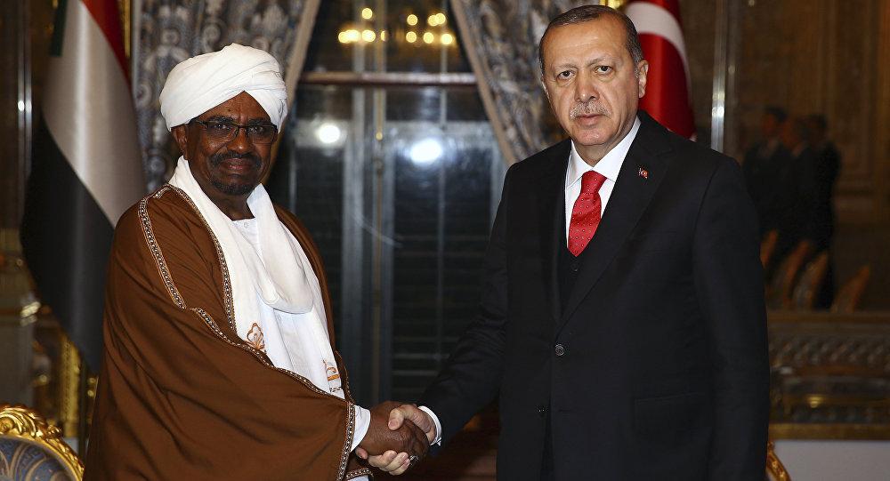 الرئيس التركي رجب طيب أردوغان خلال اللقاء مع الرئيس السوداني عمر البشير