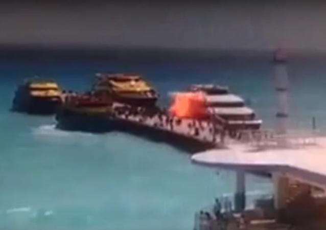 انفجار قارب في المكسيك