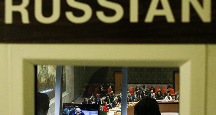 المبعوث السوري إلى الأمم المتحدة بشار الجعفري خلال جسلة التصويت من أجل وقف اطلاق النار (الهدنة) في الغوطة الشرقية، مجلس الأمن، نيويورك 24 فبراير/ شباط 2018