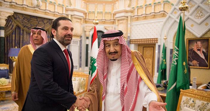 سعد الحريري مع الملك سلمان