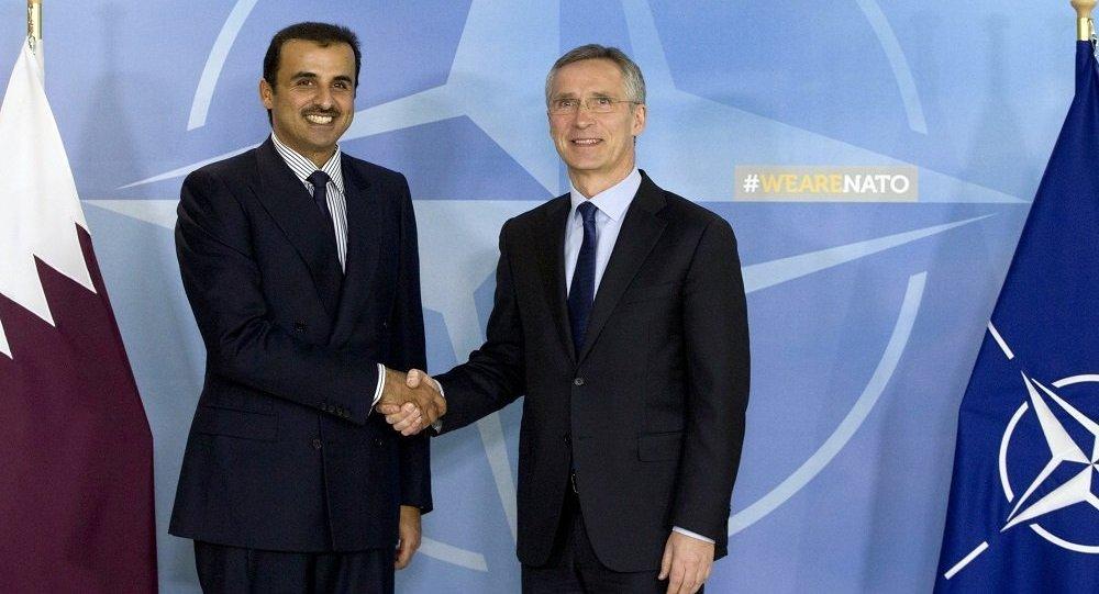 اجتماع بين الأمين العام لحلف الناتو وأمير قطر في بروكسل