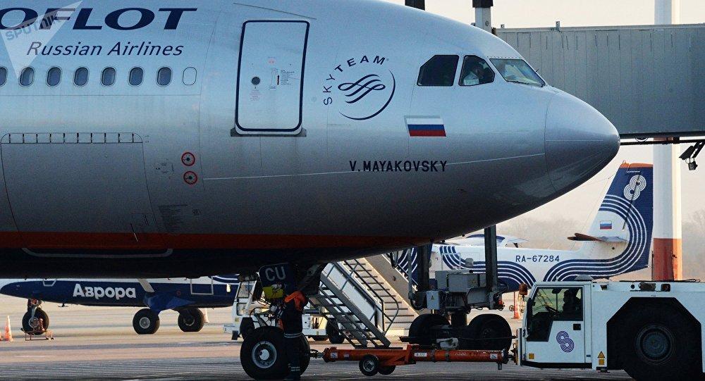 طائرات شركة أيروفلوت الروسية في مطار فلاديفوستوك