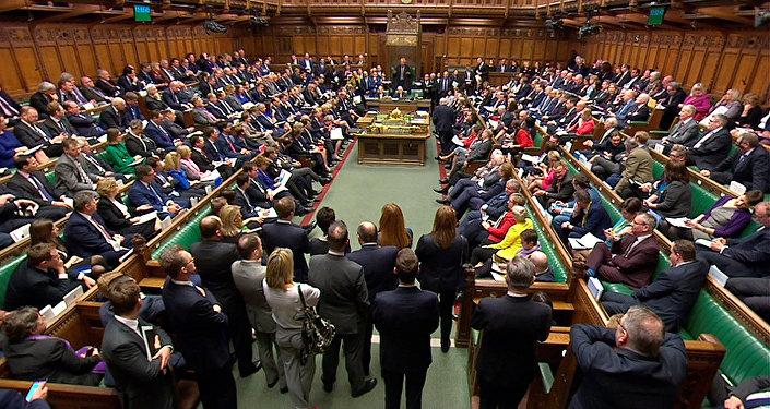 مجلس العموم البريطاني، لندن، بريطانيا 14 مارس/ آذار 2018