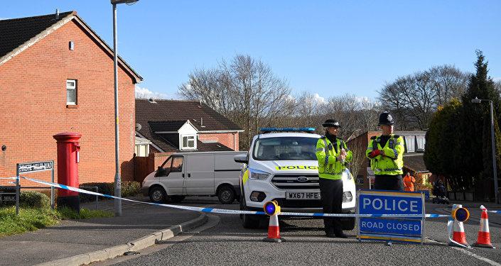 الشرطة في موقع تسميم سيرغي سكريبال في بريطانيا