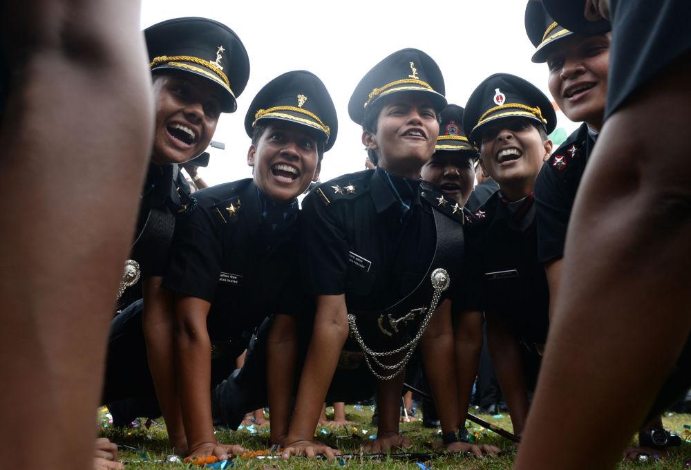 طلاب (ضباط) الشرطة الهندية بعد تخرجهم في تشيناس، الهند 10 مارس/ آذار 2018