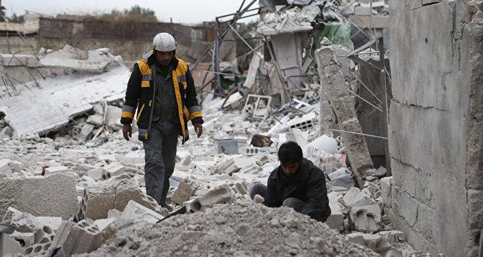 الخوذ البيضاء، الغوطة الشرقية، 12 فبراير/شباط 2018