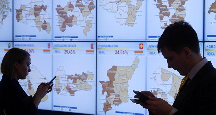 نسبة إقبال الناخبين الروس على مراكز الاقتراع حتى الساعة الثانية ظهرا بتوقيت موسكو