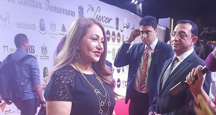 الممثلة المصرية ليلى علوي في مهرجان الأقصر السابع للسينما الأفريقية 18 مارس/آذار 2018