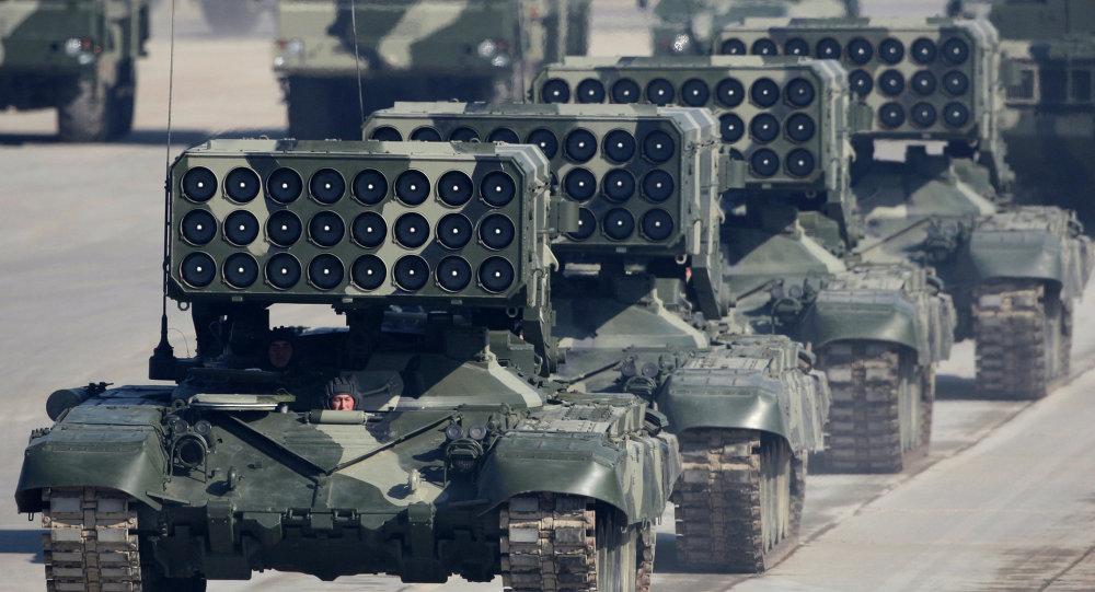 راجمة صواريخ روسية توس -1 إيه