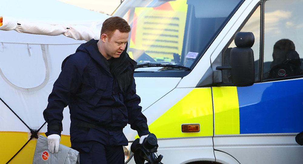 الشرطة خلال التحقيقات في قضية سكريبال