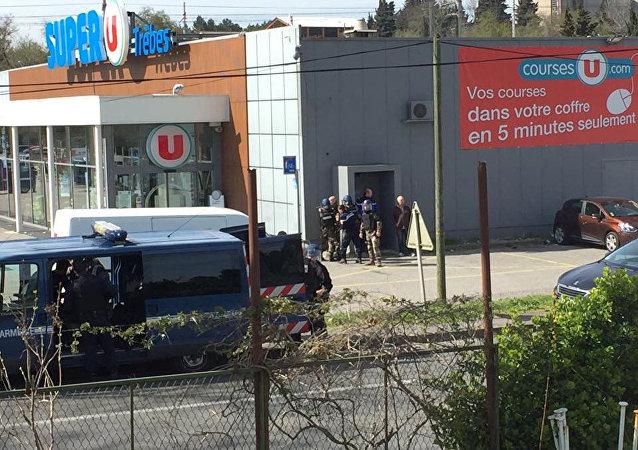 عملية احتجاز الرهائن في بلدة تريب جنوبي فرنسا، 23 مارس/آذار 2018
