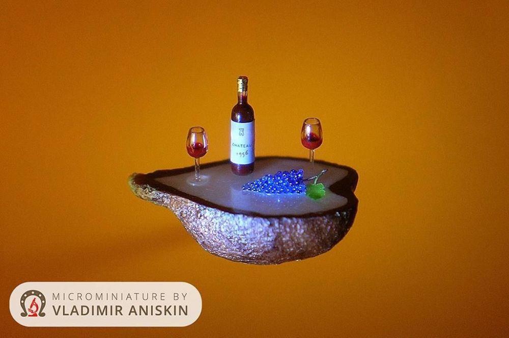 من أعمال رسام الفن الدقيق الروسي فلاديمير أنيسكين