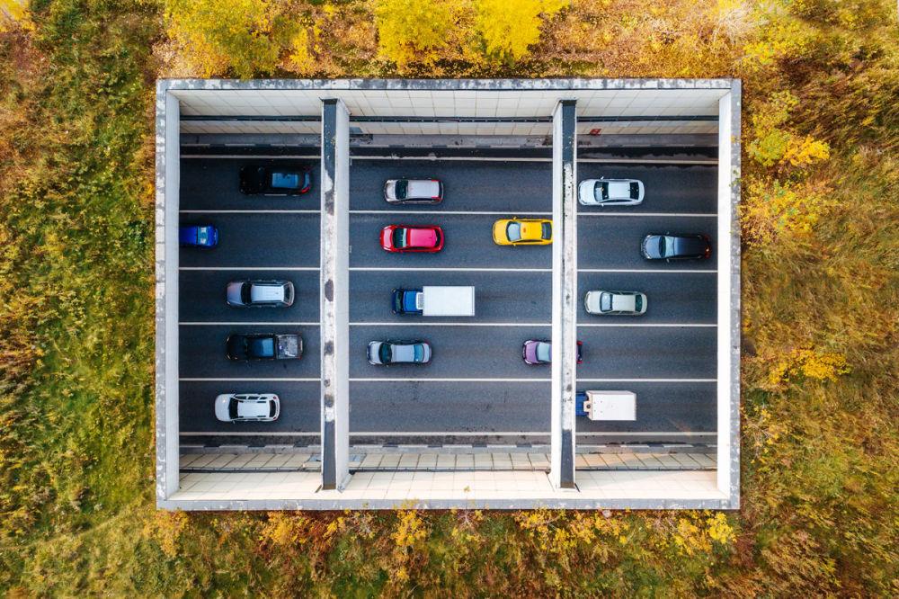 مسابقة أفضل تصوير في روسيا 2017 - صورة مقطع من طريق الخط الدائري الثالث للمصور دميتري تشيستوبرودوف