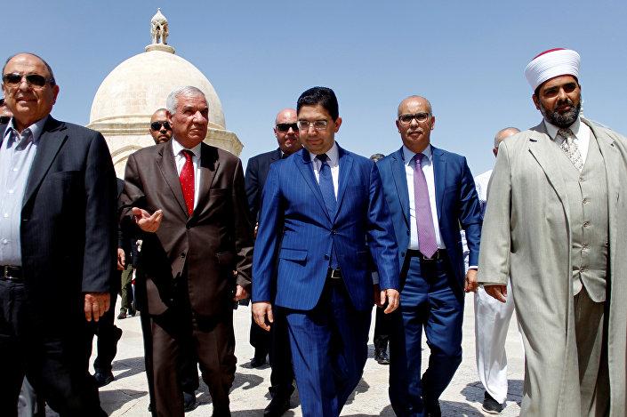 وزير خارجية المغرب يتجول في المسجد الأقصى