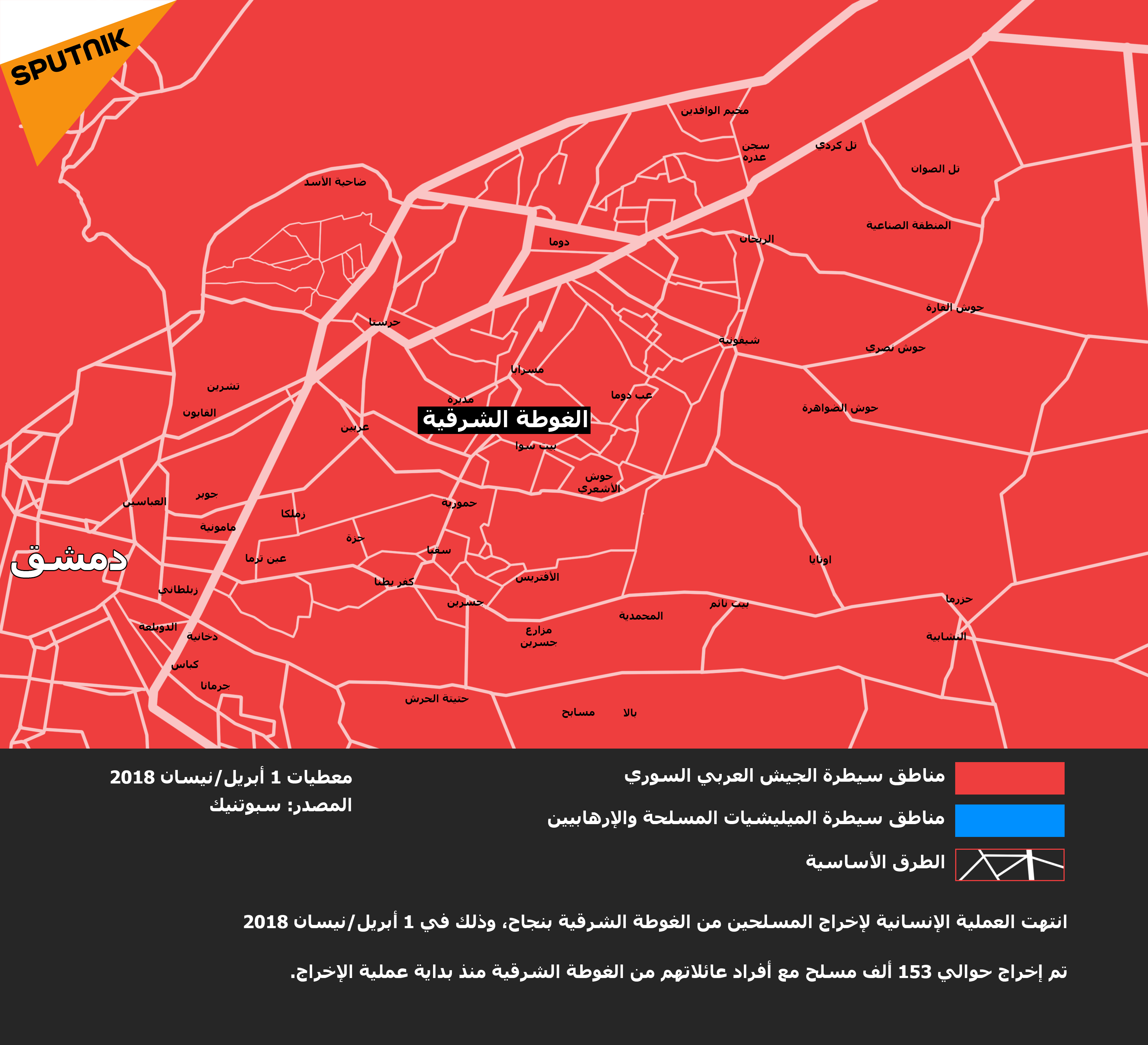 خارطة الغوطة الشرقية في دمشق