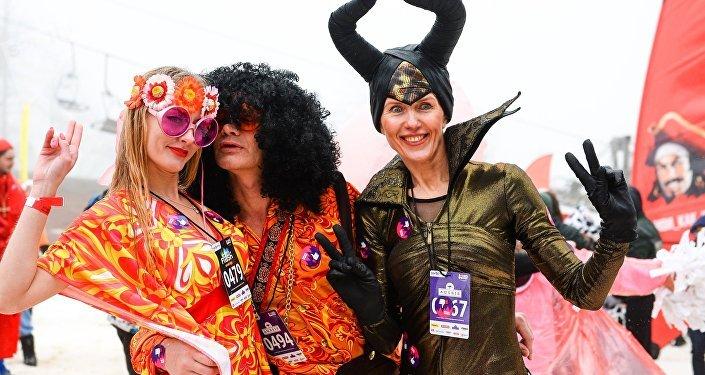 مهرجان BoogelWoogel-2018 في المنتجع الشتوي روزا خوتر في سوتشي، روسيا