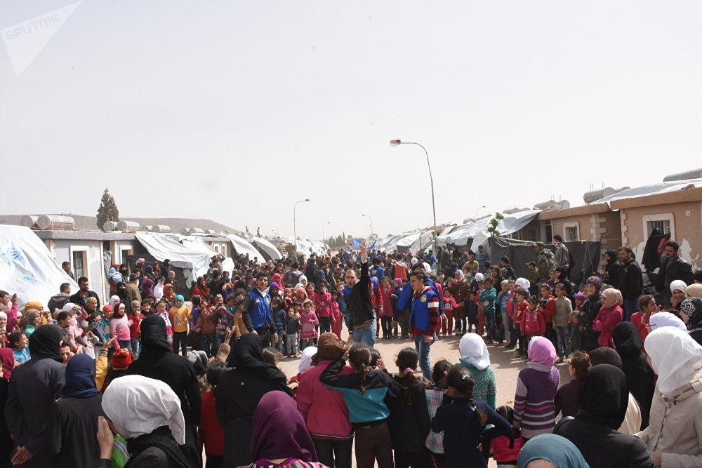 مفاجأة أطفال الغوطة الشرقية في حرجلة