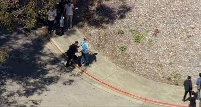 الوضع عند مقر شركة يوتيوب في سان برونو، حيث وقعت حادثة إطلاق النار، كاليفورنيا 3 أبريل/ نيسان 2018