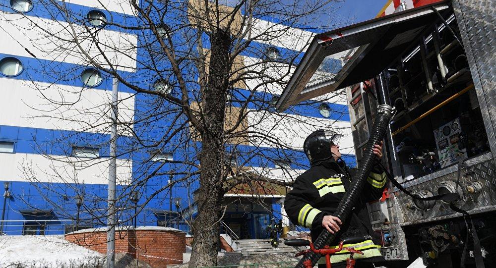 حريق مركز تجاري شرق موسكو