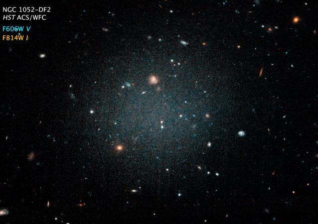كان من المتوقع أن تحوي المجرة NGC 1052-DF2 في كوكبة الحوت من المادة المظلمة بـ 400 مرة أكثر مما تظهره الدراسات