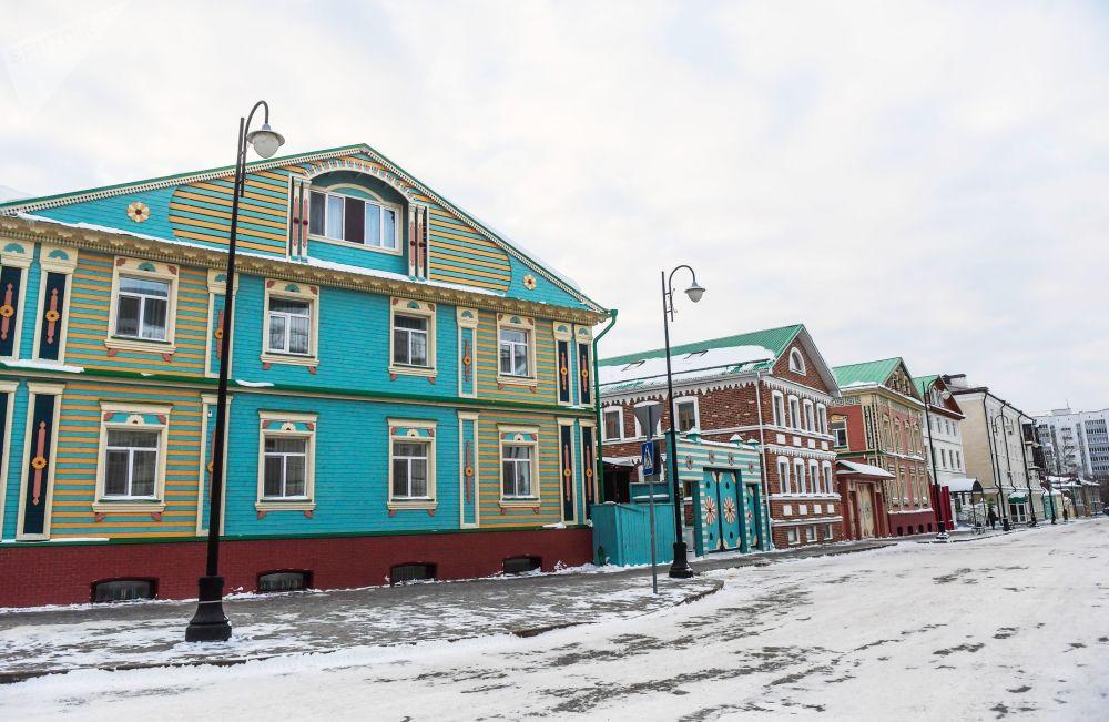 بيوت في الحي التاريخي من مدينة قازان