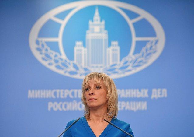 المتحدثة باسم الخارجية الروسية ماريا زاخاروفا في موسكو، 4 أبريل/ نيسان 2018