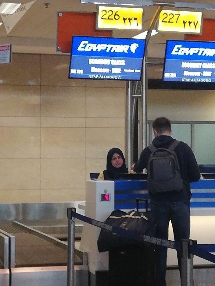 إقلاع أولى رحلات مصرللطيران إلى موسكو