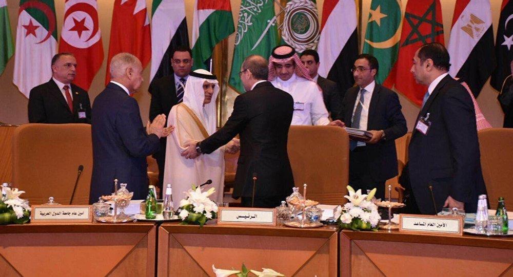 وزير الخارجية السعودي عادل الجبير في الاجتماعات التحضيرية للقمة العربية، 12 أبريل/ نيسان 2018