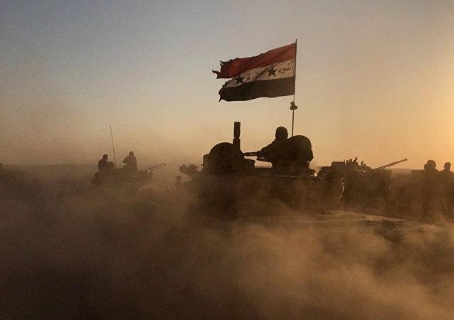 دبابات الجيش السوري على أطراف دمشق