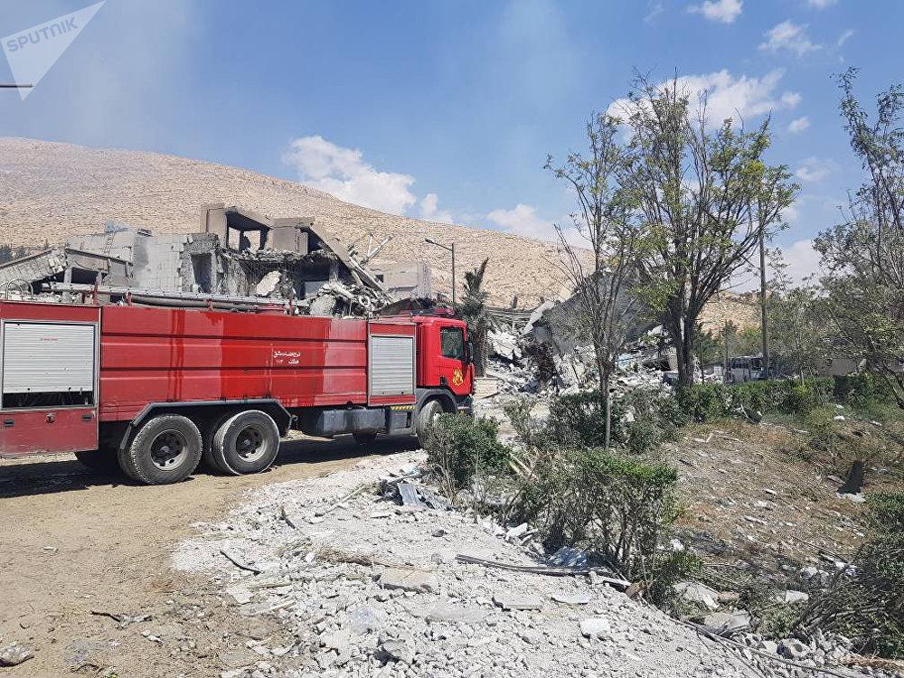 الضربات التي طالت مركزي البحوث العلمية في برزة، سوريا 14 أبريل/ نيسان 2018