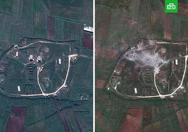 آثار الهجوم الثلاثي على سوريا